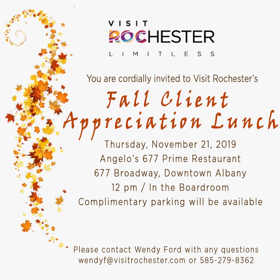 Fall Client Appreciation Lunch 2019 Invite