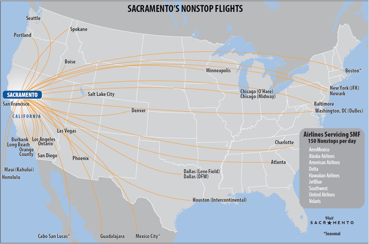 More Flights & Award-Winning Food At Sacramento ...