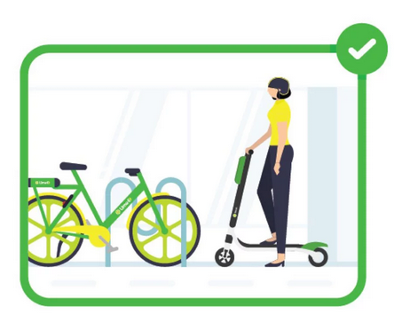 Lime Scooter parking graphic