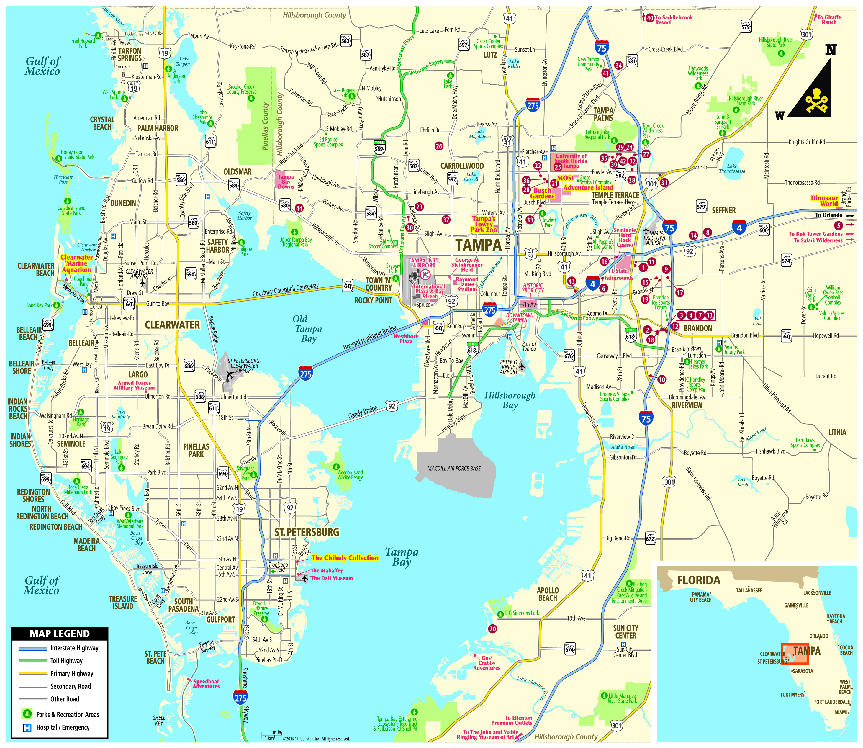 Tampa On Map Of Florida | autobedrijfmaatje on