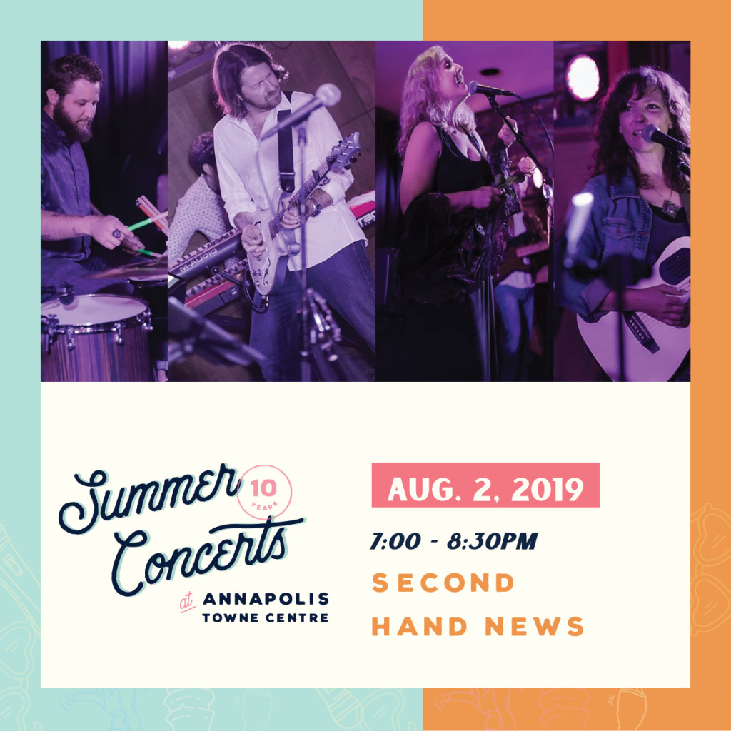 Summer Concerts at Annapolis Towne Centre : Second Hand News