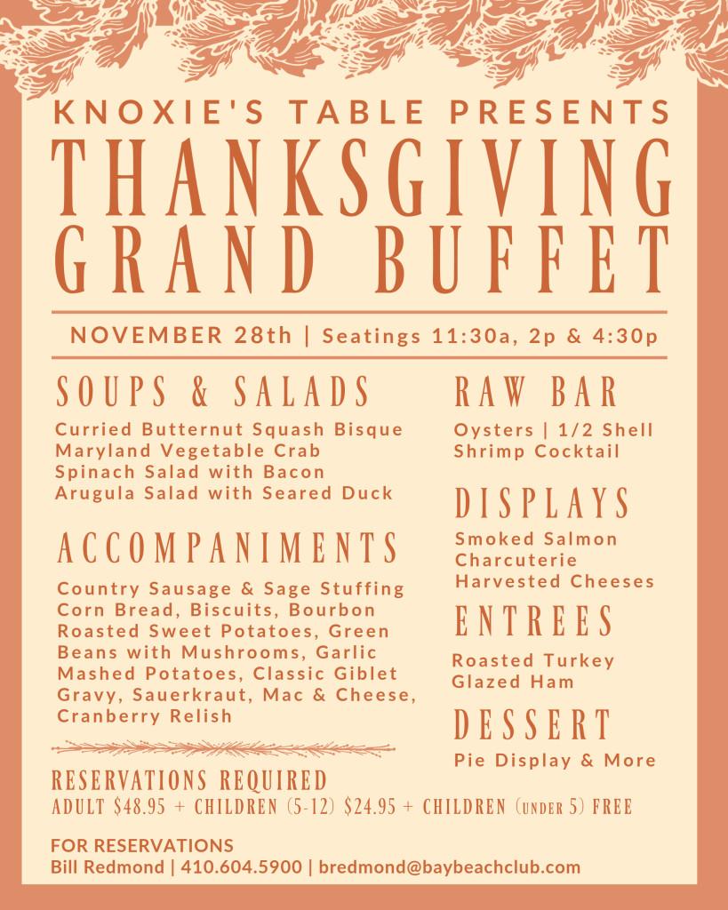 Thanksgiving Grand Buffet