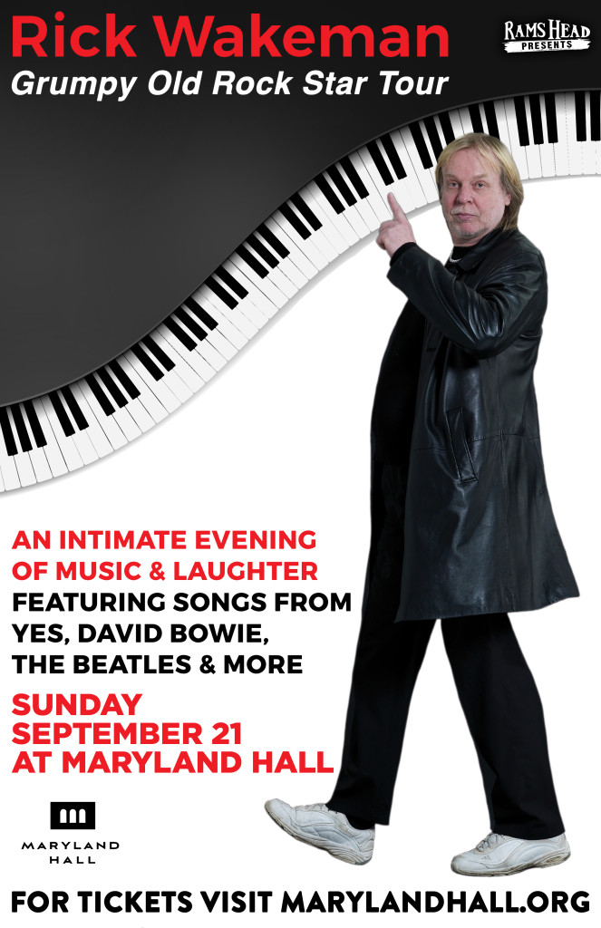 Rick Wakeman: Grumpy Old Rock Star Tour at Maryland Hall for the Creative Arts