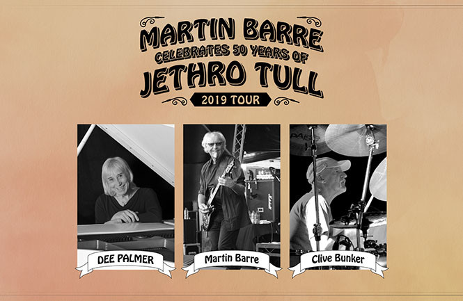 Martin Barre Celebrates 50 YEARS OF JETHRO TULL feat. Clive Bunker, Dee Palmer & Special Guests