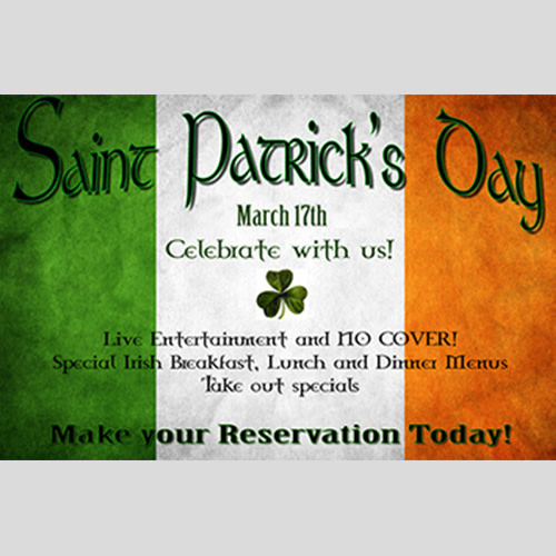 A Traditional Irish St. Patrick's Day Celebration! at Brian Boru