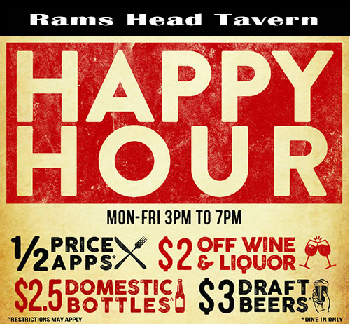 Visit Annapolis Happy Hour At Rams Head Tavern