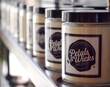 Petals & Wicks candles