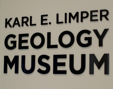 KARL E. LIMPER GEOLOGY MUSEUM Sign