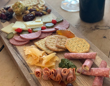 West Central Wine meat & cheese board