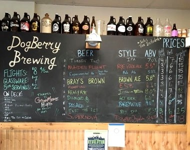 DogBerry Brewing Menu