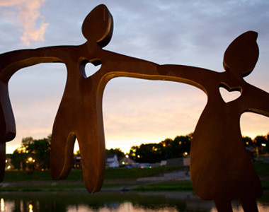 Marcum Park Heart Sculpture