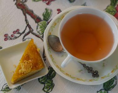 Tea Parlor mango crumble bar