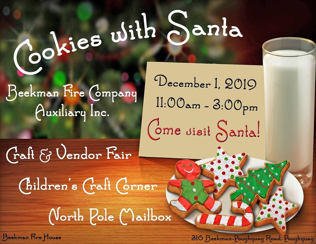 Annual Beekman Fire Company Auxiliary Cookies with Santa Event