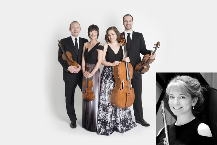Howland Chamber Music Circle Hosts - Jasper String Quartet with flutist Mimi Stillman