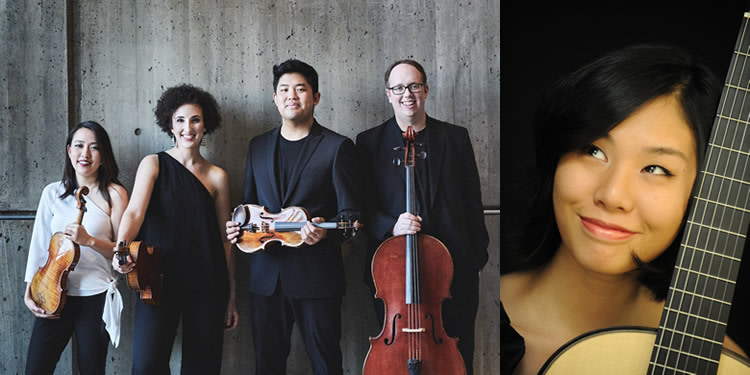Howland Chamber Music Circle Spring Concert - Verona Quartet with Jiji, guitar
