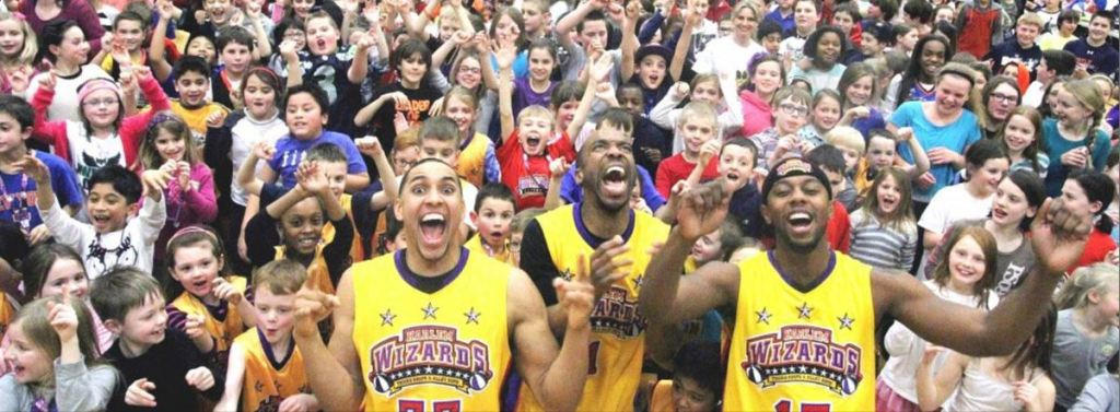 Harlem Wizards at Spackenkill High School