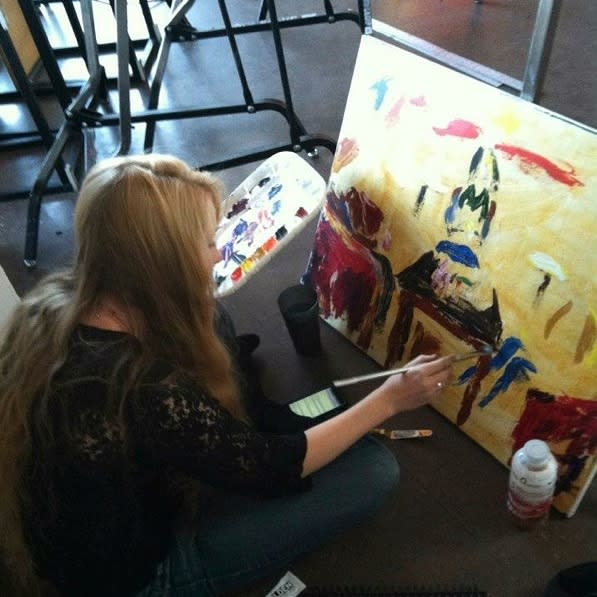 Learn to Paint With Bridgit and Blossom at Lilymoore Alpaca Farm