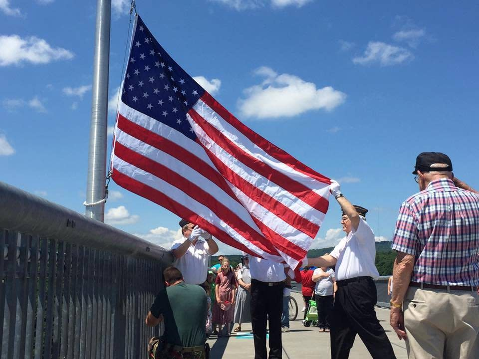 Flag Changing Ceremony on the Walkway
