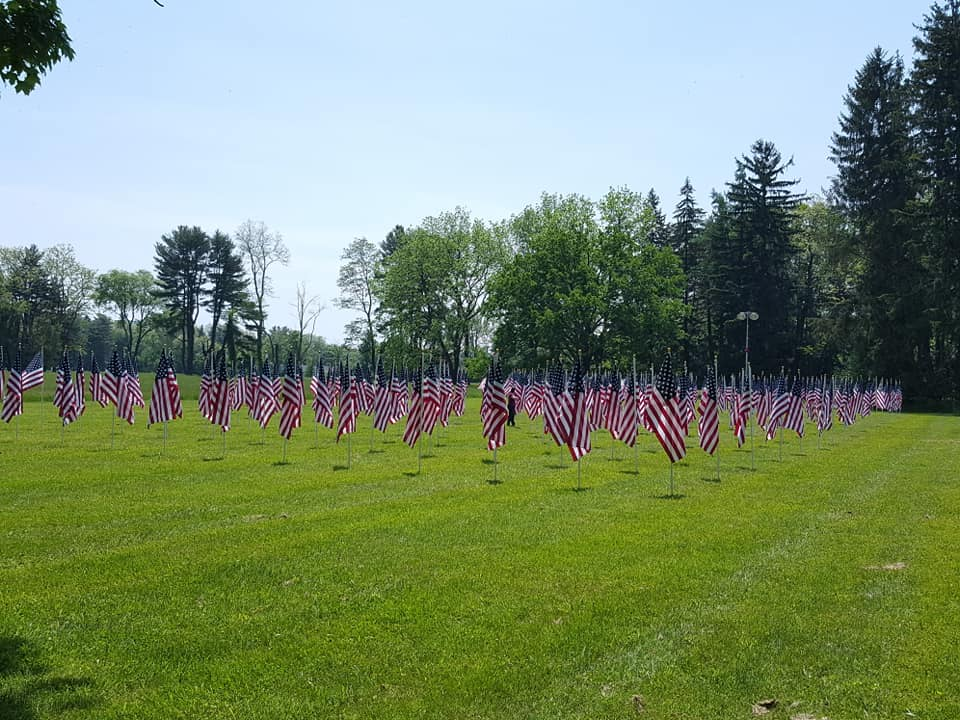 Hyde Park Education Foundation 3rd Annual Field of Honor Flag Display at FDR National Historic Site