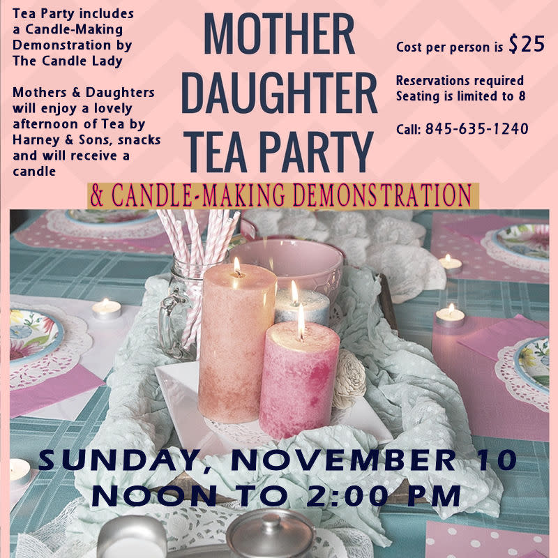 Mother Daughter Tea Party & Candle-Making Demonstration at Ye Olde Candle House Gift Shoppe