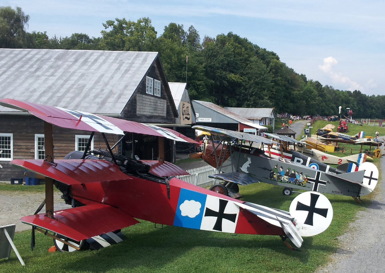 Old Rhinebeck Aerodrome Museum Air Show Weekend - Kids Fly Weekend & History of Flight Air Show