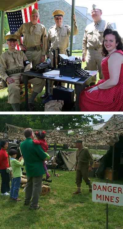 WWII Living History At FDR Presidential Library
