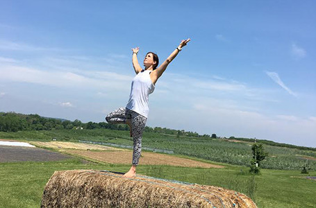 Outdoor Yoga on the Farm at Fishkill Farms