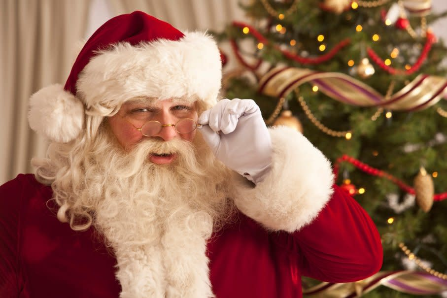 Santa Arrives on the Walkway