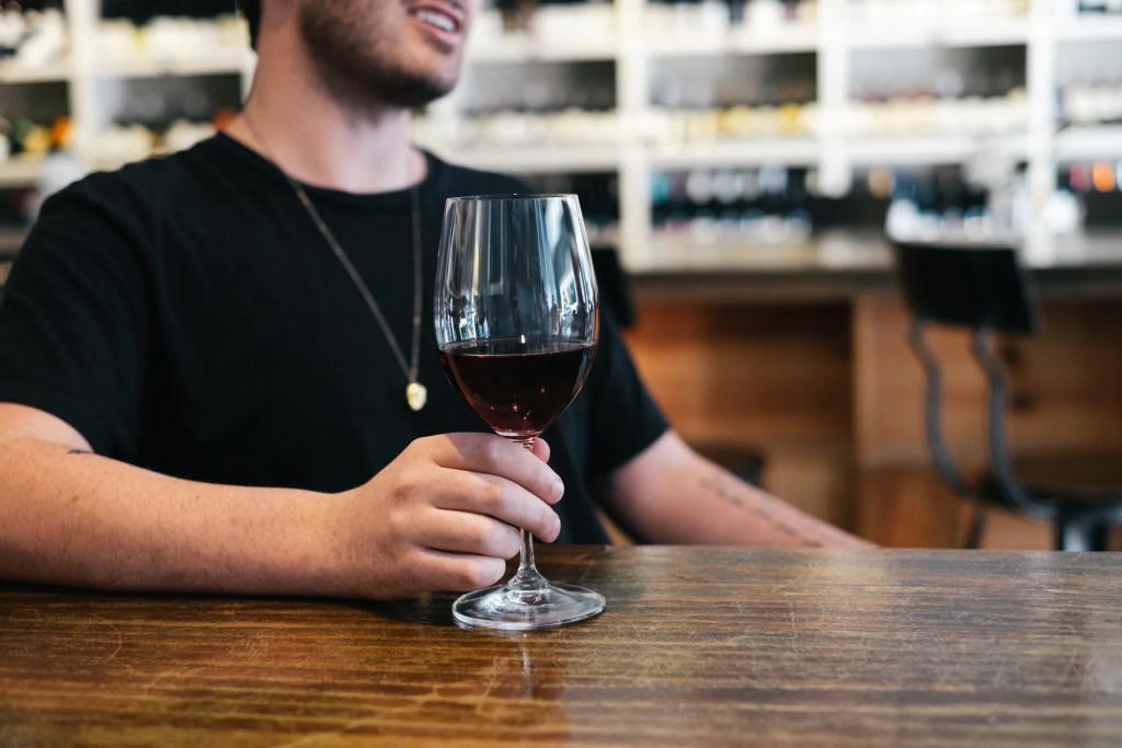 Bond Street - Guy with Glass of Wine