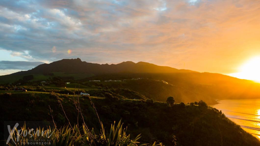 Mt Karioi to the Tasman Sea