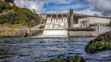 Karapiro dam at Camjet