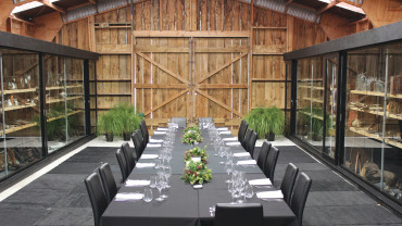 Intimate dinner and lunch options at Mystery Creek